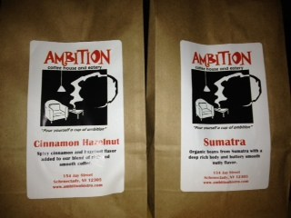 Ambition Coffee cinnamon Hazelnut and Sumatra